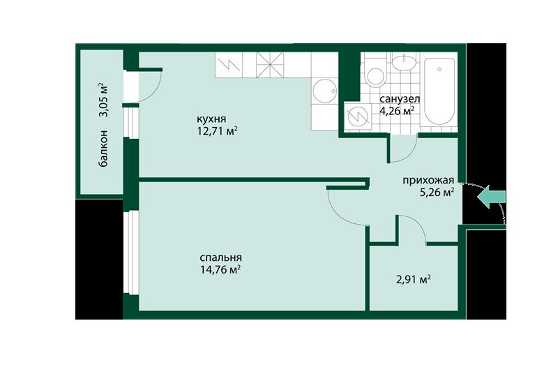 b56a8e6c42657 В ЖК Эланд, который находится вблизи от станции метро «Девяткино», немало  разных планировок для тех, кто собирается купить 1-комнатную квартиру.